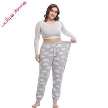 Women Big Size 3XL - 5XL Pajama Pants Legging Track Home Clothing of Large Full Trousers Pyjama For