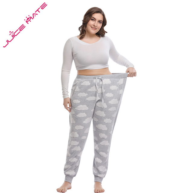 4abce44db6 Women Big Size 3XL - 5XL Pajama Pants Legging Track Pants Women Home  Clothing of Large