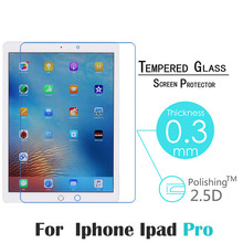 For Apple iPad Pro 12.9″ 0.3mm 9H Screen Protection Tempered Glass Film Screen Protector Cover Glass On the For iPad Pro