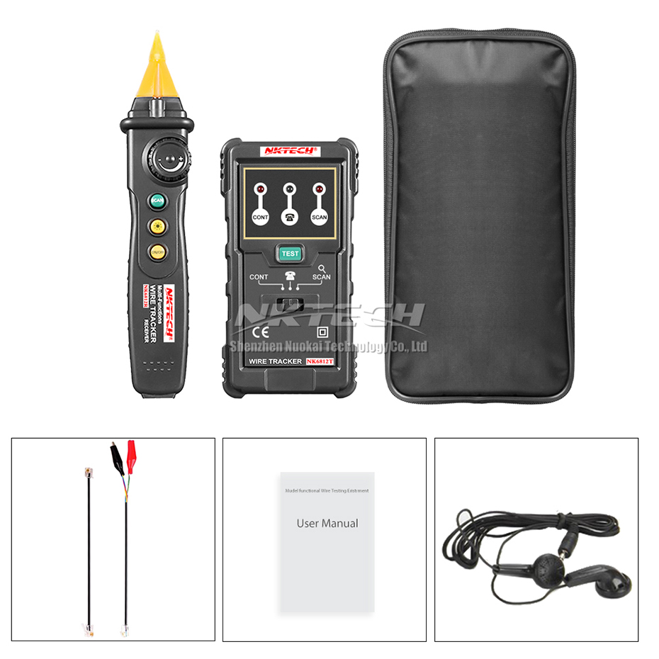 NKTECH NK6812 Cable Wire Tracker Tester Network LAN Internet Wire ...