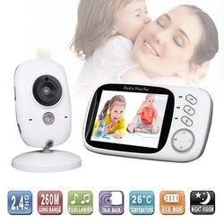 Wireless Video a Colori Baby Monitor con 3.2 Pollici LCD 2 Audio Bidirezionale di Colloquio Night Vision Telecamera di Sorveglianza di Sicurezza Macchina Fotografica Baby Sitter