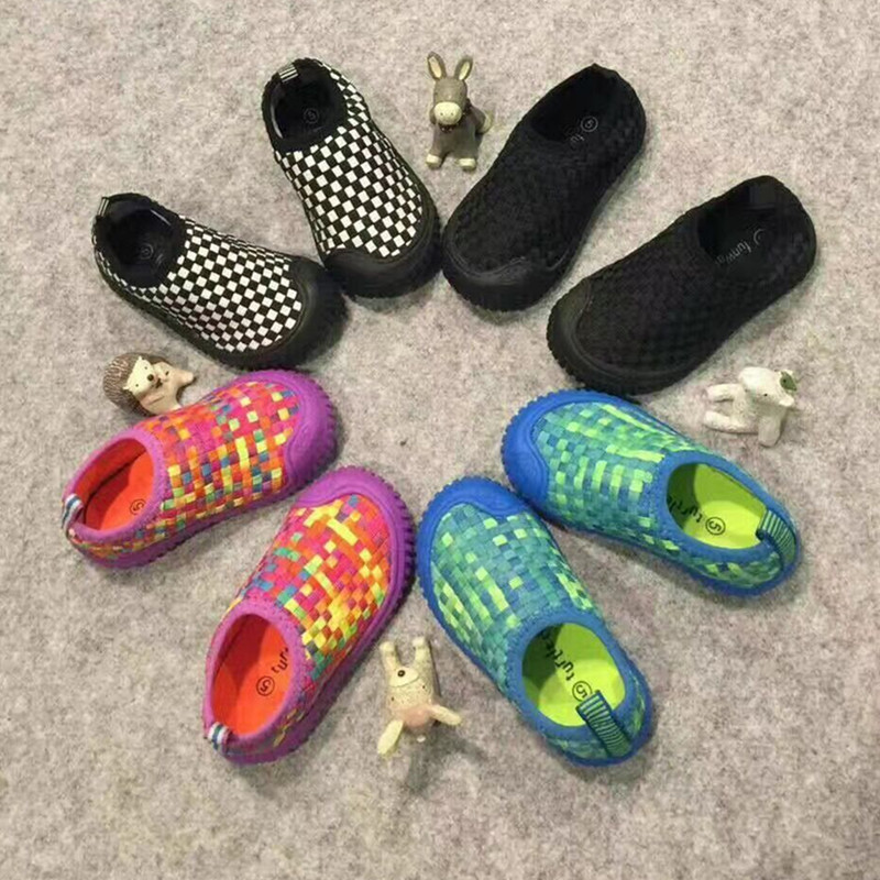 Crochet Kids Casual Shoes Soft Baby Boys Girls Fashion Shoes Breathable Children Sports Shoes School Shoe 2018 US Size 5-12