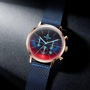 Image 2 - גמול חדש אופנה הכרונוגרף שעון גברים למעלה מותג יוקרה צבעוני שעון עמיד למים ספורט גברים שעון נירוסטה שעון