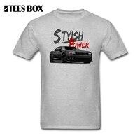 Grey T Shirt Car Men Stylish Power Camaro SS Man O Neck Short Sleeve T Shirt