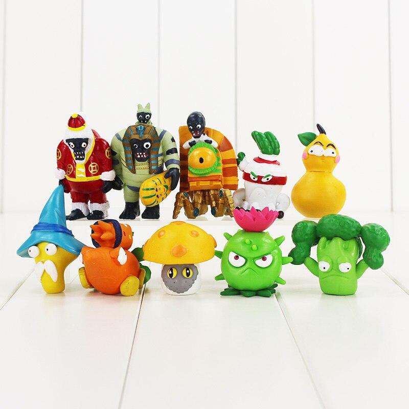 4-8cm 10pcs/lot Plants vs. Zombies PVZ figure action toys classical game PVZ figure action toys Plants Zombie collection toys