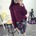 Kesebi 2016 Autumn and Winter New Female Korean Loose Knit Long Sleeve Pullovers Women Thick Warm Short Turtleneck Sweaters