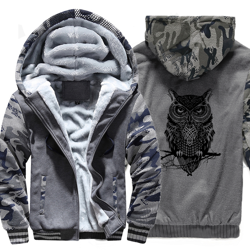 animal Printed Plus Size Brand sweatshirts 2019 Fashion Men 39 s wool liner jackets Men Clothing winter top Camouflage sleeve coats in Hoodies amp Sweatshirts from Men 39 s Clothing