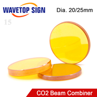 CO2 Laser Beam Combiner Lens Dia.20mm 25mm for CO2 Laser Engraving Cutting Machine to Adjust Light Path and Make Laser Visible