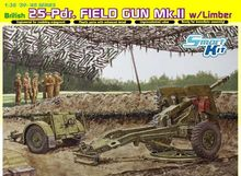 Dragon model 6774 1 35 British 25 Pdr Field Gun Mk II w Limber plastic model