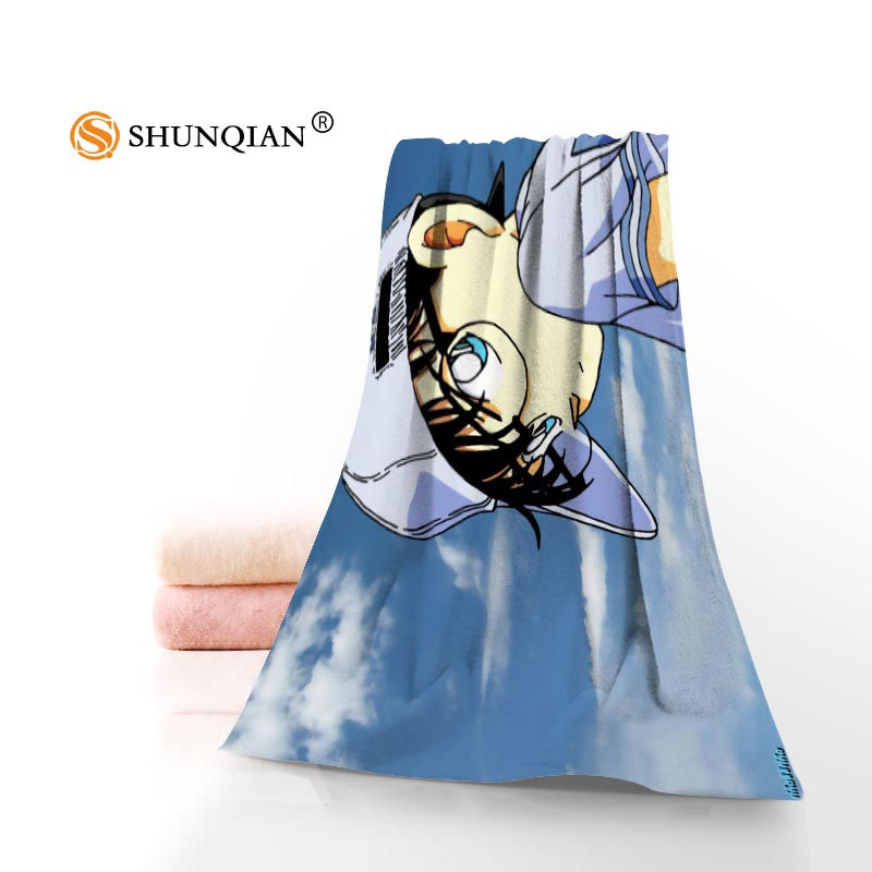 New Custom Detective Conan Towel Printed Cotton Face/Bath Towels Microfiber Fabric For Kids Men Women Shower Towels