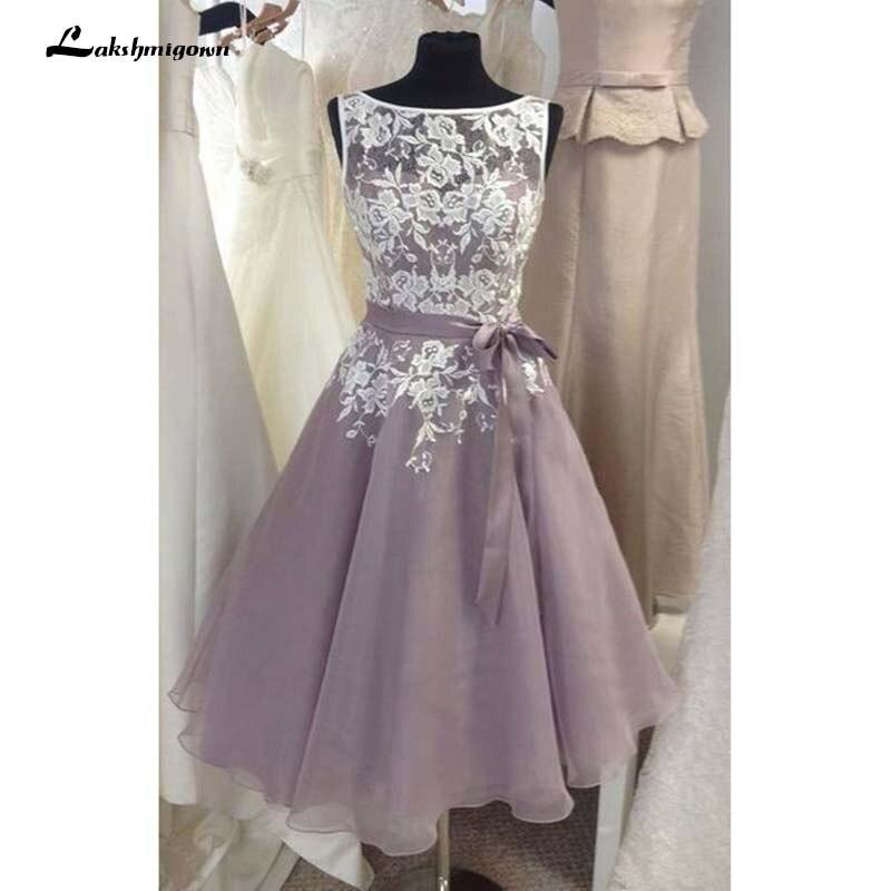 Élégante dentelle courte formelle mère de la robe de mariée robes de soirée robes de noivas