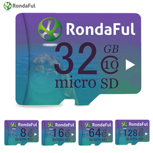Rondaful высокое Скорость Micro SD карты 32 ГБ 16 ГБ 8 ГБ TF карты C10 UHS-1 карты флэш-памяти 128 ГБ 64 ГБ для смартфонов ПК дропшиппинг