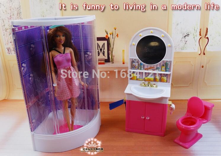 tienda online nueva llegada regalo de navidad casa de juegos para nios set de bao muebles para la mueca de barbie accesorios para barbie nias regalos