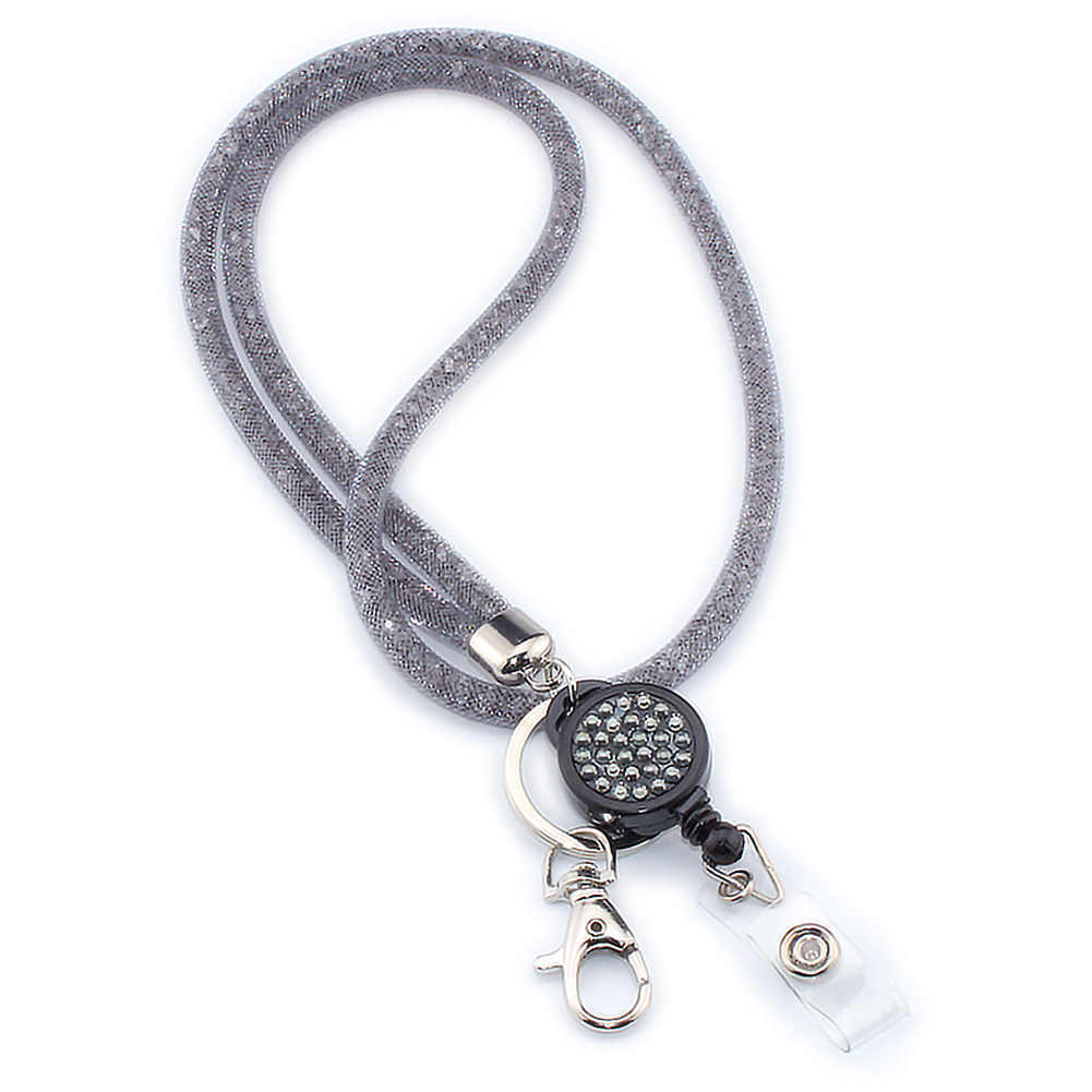 Camera Crystal Mobile Phone Holder Mesh Necklace Strap Badges Office Hanging Rope For Cellphones Keychain Lanyard Lightweight