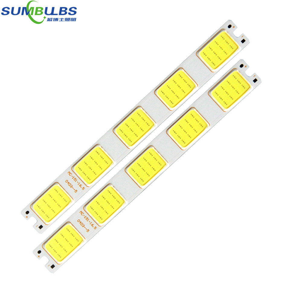 Sumbulbs 151*16.5mm Grid Shape LED Light Source 12V COB Lamp 5W White Color for DIY Work Lamp Decor Lighting Automobile Bulbs