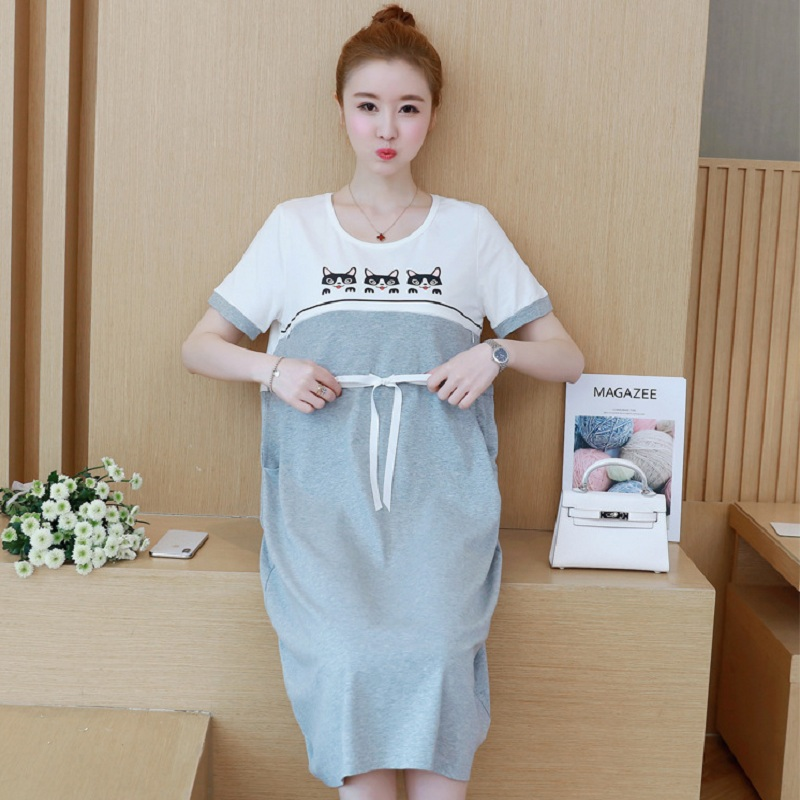 New summer maternity clothing maternity dresses pregnancy women dresses high quality dress maternity summer clothing 1598
