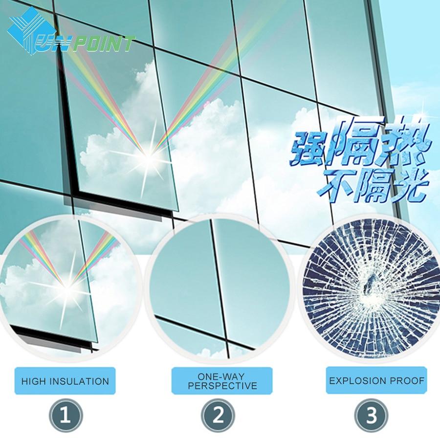 50cmX3m srebrno enosmerno odsevno ogledalo okensko folijo DIY - Dekor za dom - Fotografija 2