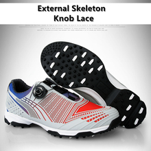 Brand PGM Mens Waterproof Golf Sports Shoes Knobs Buckle Shoes with Two Patent Shoes Sneakers Anti-sideslip Technology