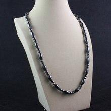 Ожерелье из магнитного гематита с овальными бусинами ожерелье