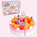 DIY Fruitcake 86pcs/set Cookware Set Fruit Birthday Cake Children Pretend Play Toys Kitchen Set Kids Toy Educational Assemblage