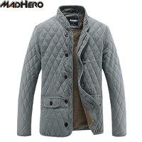 MADHERO Fur Lining Warm Corduroy Spliced Solid Men S Parkas Thick Winter Jackets Men Snow Windproof
