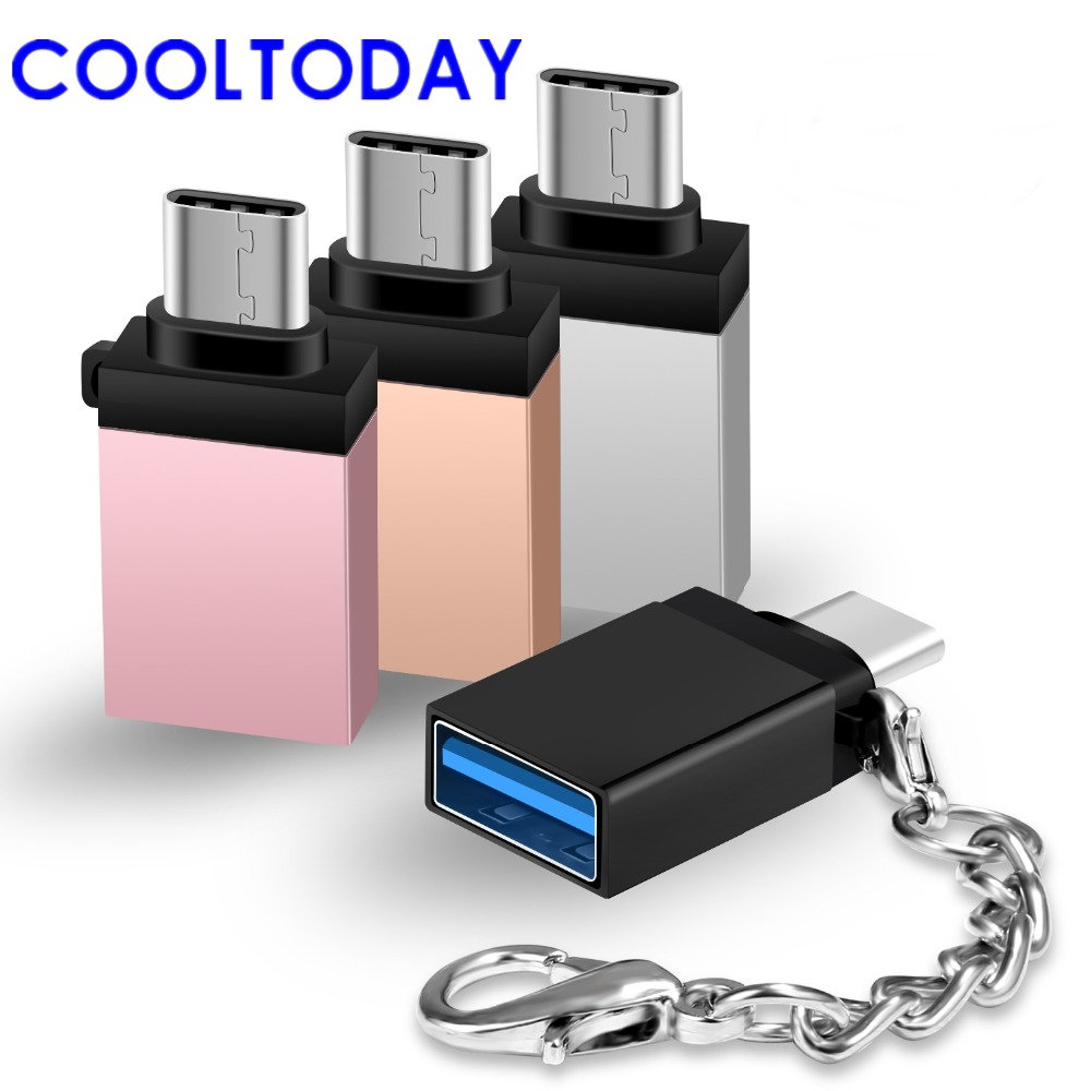 Cooltoday 2pcs Type C Adapter Usb-c To Usb-a Otg Adapter Converter With Keychain For Macbook For Samsung Note 8/s8/lg G5 G6 Cellphones & Telecommunications