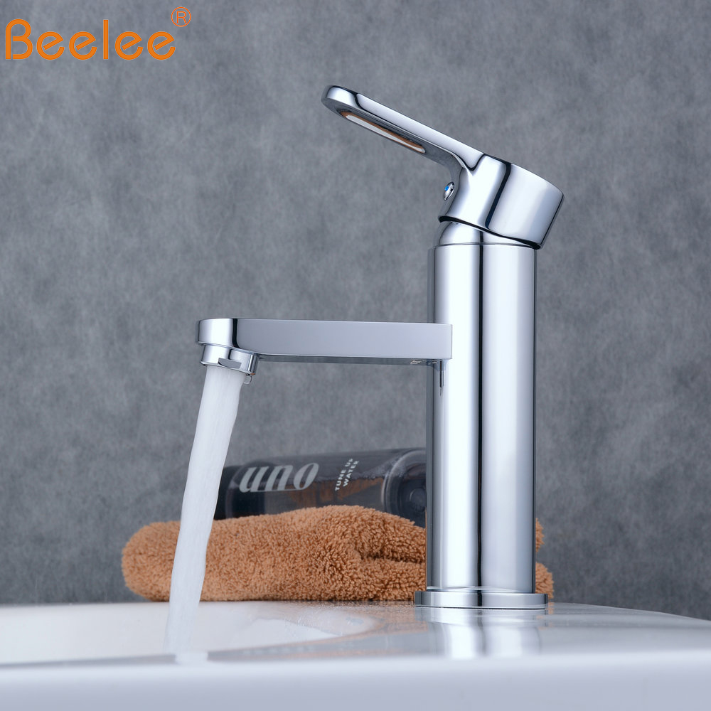 Beelee Bathroom Sink Tap Single Holder Single HoLe Basic Faucet Chrome Mixer Tap BL6302Beelee Bathroom Sink Tap Single Holder Single HoLe Basic Faucet Chrome Mixer Tap BL6302