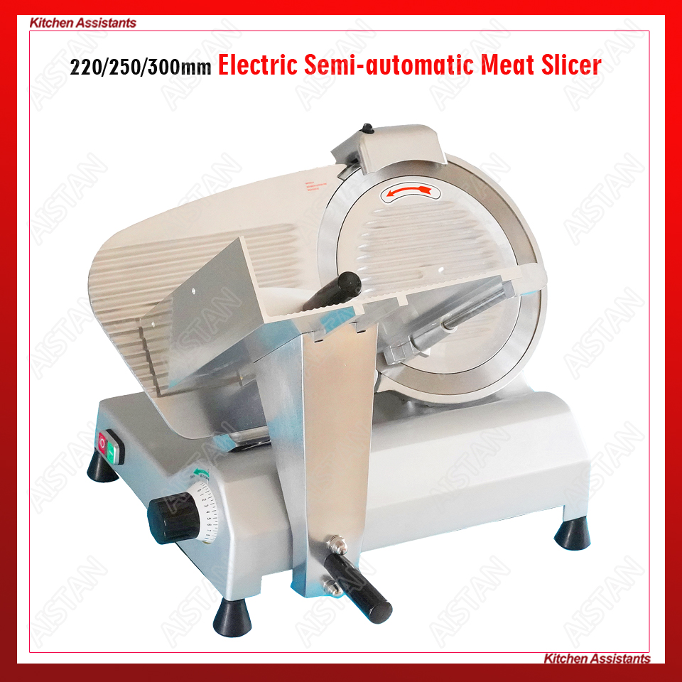 MS300ST Electric Meat Slicer Machine Aluminum-magnesium Alloy Body Stainless Steel Disc Blade Meat Vegetable Fruit Cutter