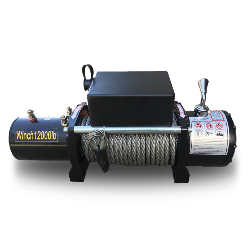 3000lbs12V-24V Portable Copper Core Motor Winch Power Recovery Winch Cable Puller Winch Kit ATV Winch Trailer Truck Truck network recovery