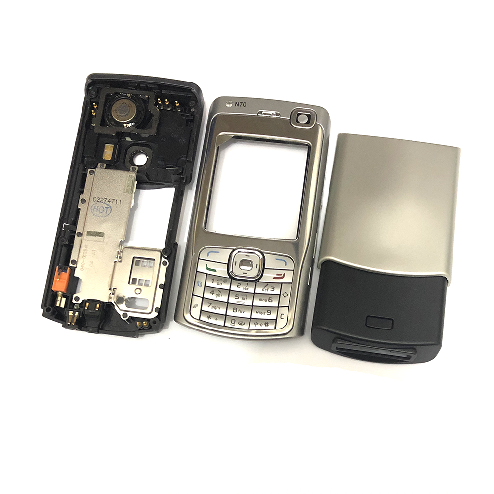 For Nokia N70 Housing Front Faceplate Frame Cover Case+Back Cover/battery Door Cover+Keypad