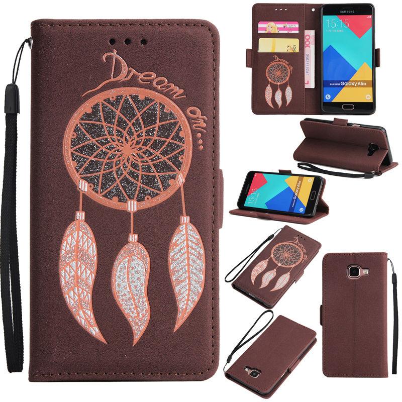 Deluxe Dream Catcher Couverture Stand Titulaire de la Carte pour Samsung Galaxy S7 Bord S8 Plus Note 8 iPhone 6 s Portefeuille en cuir Flip Cas Carillons