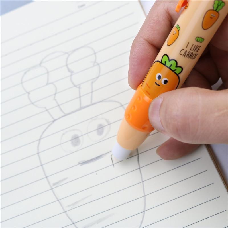 Mignon étudiant gomme fruit motif presse caoutchouc gomme nouvelle école créative apprentissage papeterie 2