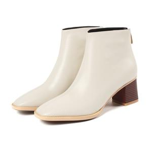 Image 3 - النساء الأحذية حار امرأة جلد البقر جلد طبيعي حجم كبير أوروبا والولايات المتحدة أحذية بوت قصيرة الموضة اليدوية كعب 5.5 سنتيمتر
