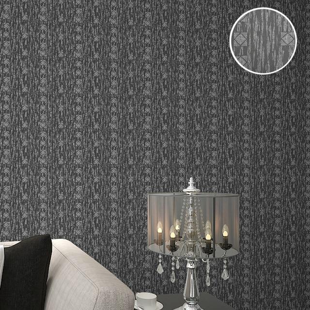 moderne geometrische tapetenmuster vinyl strukturierte wei silber grau wandpapierrolle fr schlafzimmer bad - Tapete Muster Grau