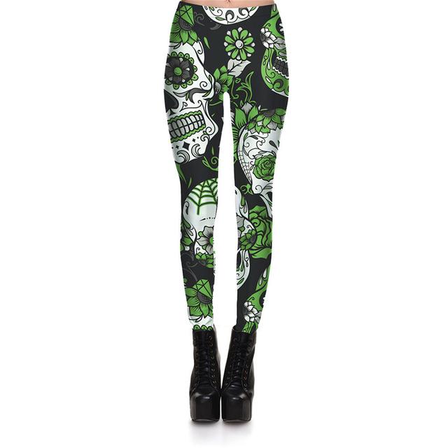 Black Leggings Digital Print Trousers 7 color