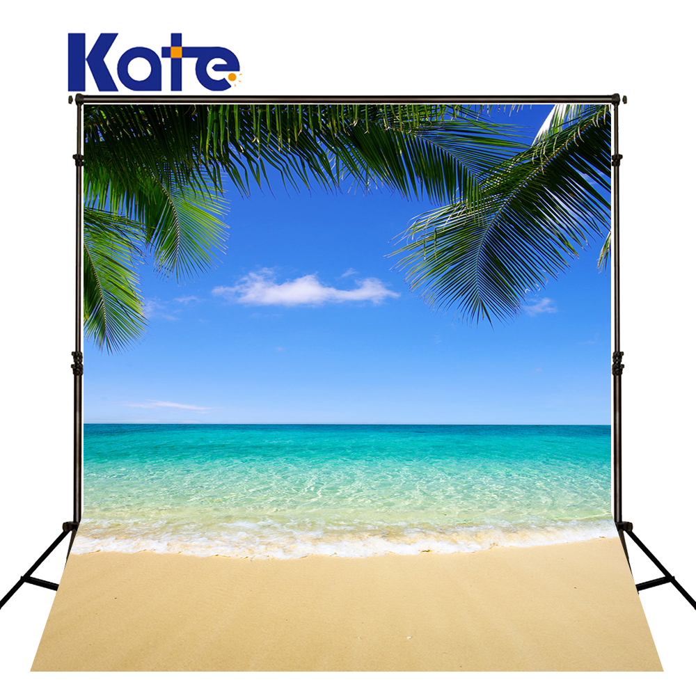 Palm Tree Beach: Kate 150X220CM Blue Sea Photography Background Beach Blue