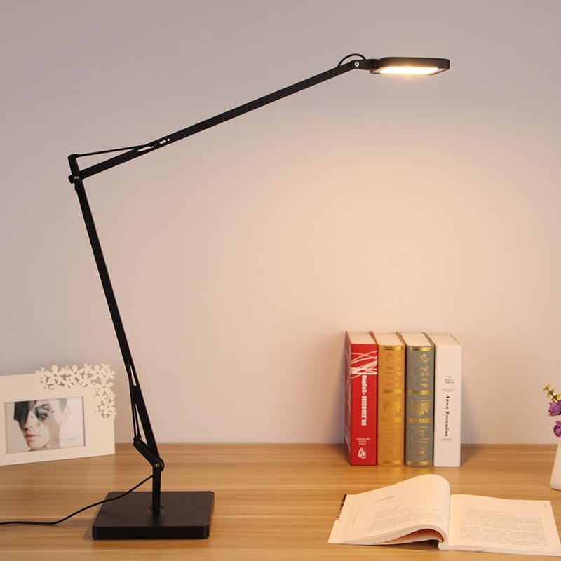 Ecolight Free Gratuite Moderne Kelvin Led Lampe de Bureau 7 W Blanc Chaud 3 Étapes Tactile Gradateur Table de Lecture Lampe de Bureau lumière