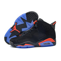 Original New Arrival AIR US JORDAN 6 Infrared Gatorade Green UNC Suede Men's Basketball Shoes CNY Outdoor Sneakers