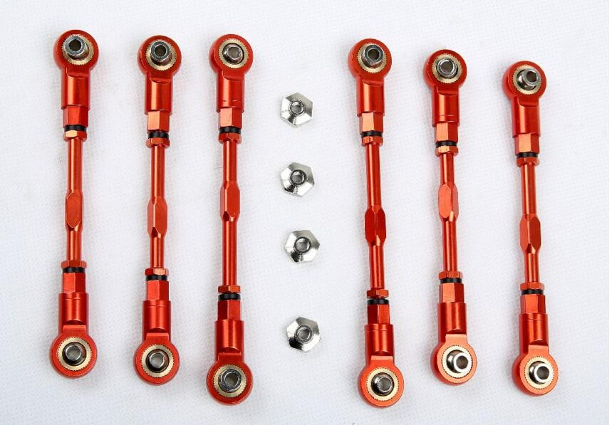 LT CNC metal rod set  For 1/5 HPI Baja Losi 5ive T new cnc rear lower suspension set for losi 5ive t rovan lt