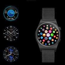 MTK2502C Smart touch Uhr pulsuhr Magie Knopf Stahl strap Smartwatch Für iphone Xiaomi Lenovo Meizu VS iwo DM09 KW18