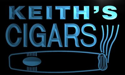 x0059-tm Keiths Cigars Bar Custom Personalized Name Neon Sign Wholesale Dropshipping On/Off Switch 7 Colors DHL
