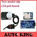 Menor Preço Auto OBD2 vd ds-tcs cdp TCS CDP Sem Bluetooth 2015. R1 Ativo livre V3.0 Placa PCB obd2 Scanner Para Carros e Caminhões 3 em 1