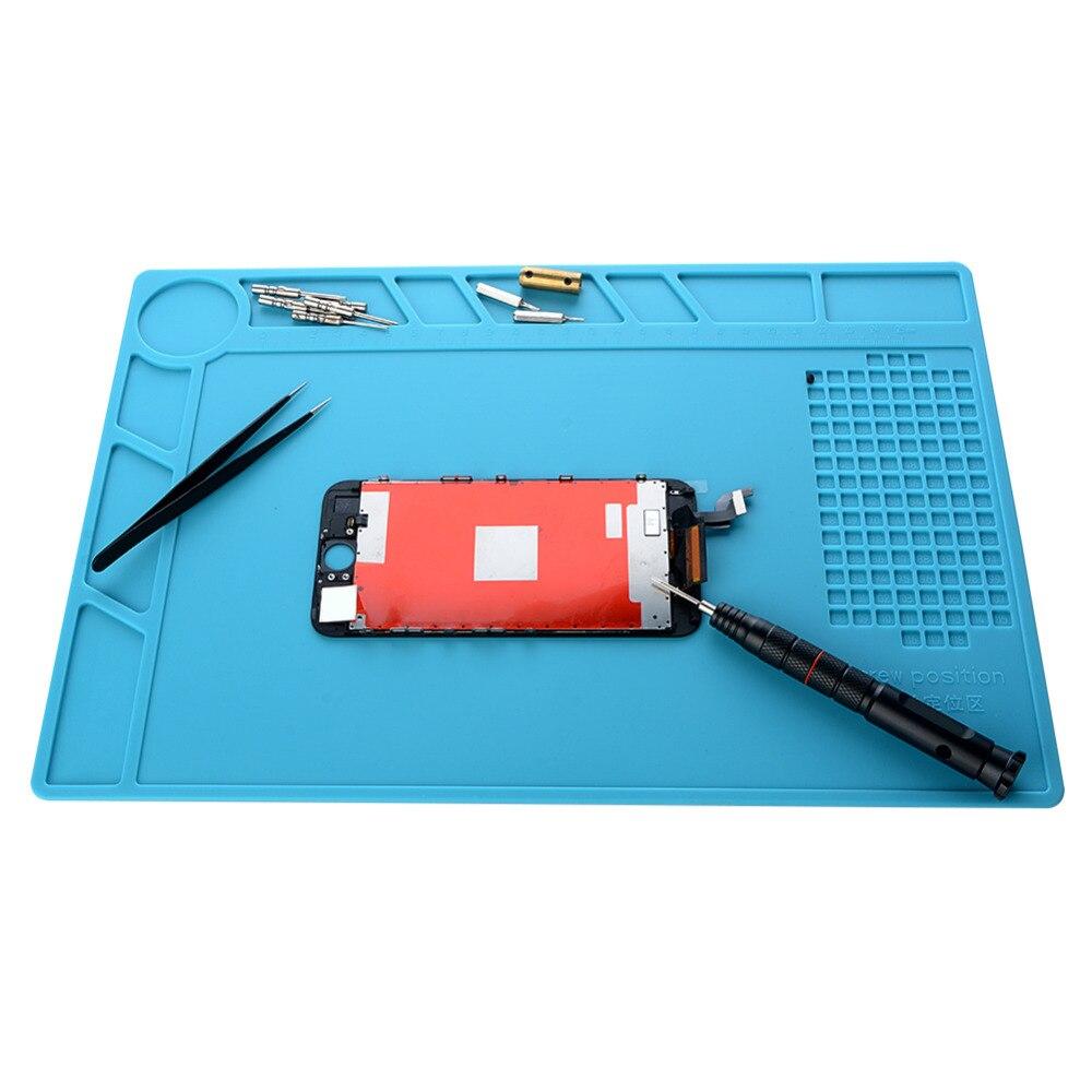 Silicone Mat Heat Insulation Pad High Temperature BGA Workbench Welding Anti-static Magnetic Pad Phone Repair Tools Accessories