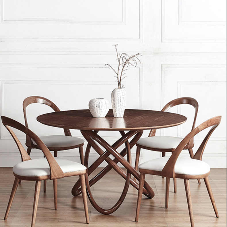Cafe Furniture Sets Solid Wood Coffee Tables Chairs Sets 1 Table 4 Chairs Minimalist Modern Desk Round Tea Table Sets 120 75cm Cafe Furniture Sets Aliexpress