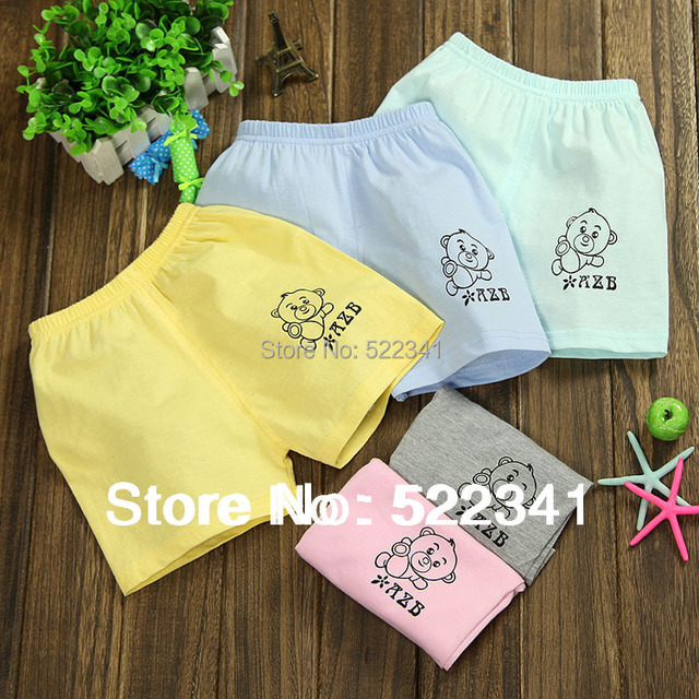 2015 hot sale! children short pants, summer cotton shorts,kids fashion pants, boys color cartoon bear pants