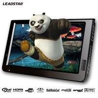 Leadstar 10 дюймов DVBT/DVBT2 и аналоговый/ATSC мини светодиодный проектор HD Портативный Freeview автомобильное Цифровое ТВ все в 1 HDMI в Поддержка USB SD карты
