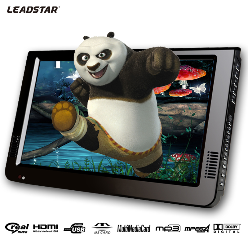 Leadstar 10 Inch DVBT/DVBT2&Analog /ATSC Mini Led HD Portable Freeview <font><b>Car</b></font> Digital <font><b>TV</b></font> All In 1 HDMI IN Support USB SD Card image