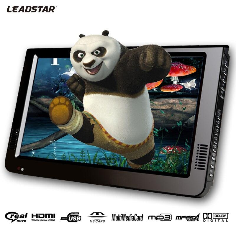 Leadstar 10 pouces DVBT/DVBT2 et analogique/ATSC Mini Led HD Portable TV numérique de voiture Freeview tout en 1 HDMI en Support USB carte SD