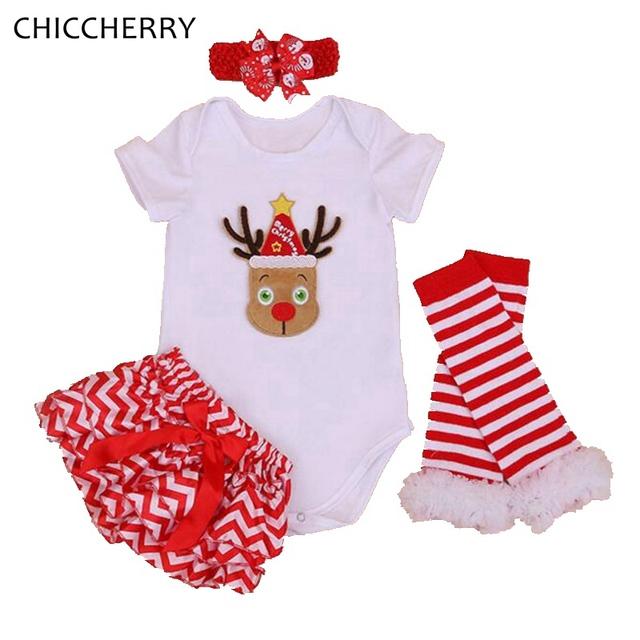 Rena Do Natal Roupas para Meninas Bodysuit Infantil Conjunto Cabeça Zebra Bloomers Corpos Para Bebe Recém-nascidos Do Bebê Roupa Da Menina