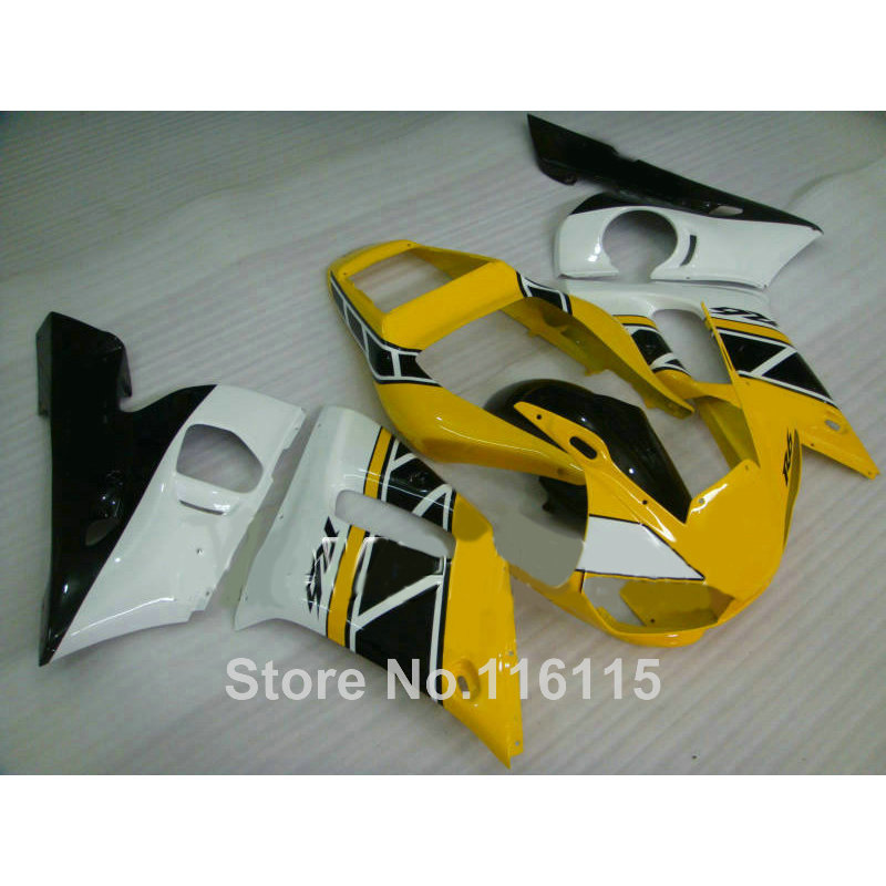 High quality ABS fairing kit for YAMAHA R6 1998 1999 2000 2001 2002 YZF-R6 YZF R6 98-02 yellow white black fairings set NX27